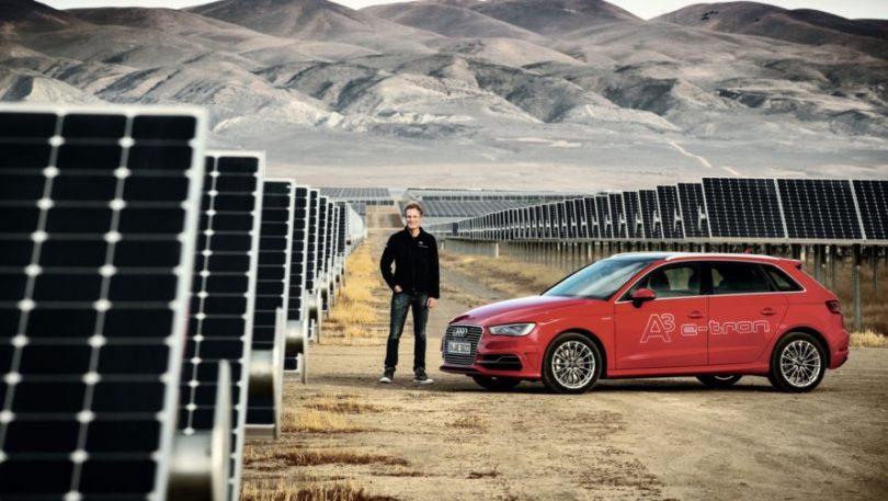 audi güneş panelli araba