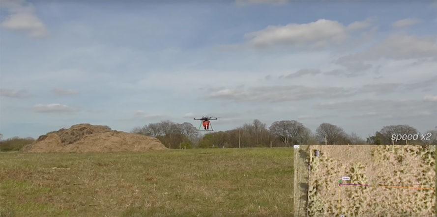 drone ile ağaç dikimi