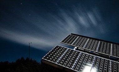 gece enerji üreten güneş paneli