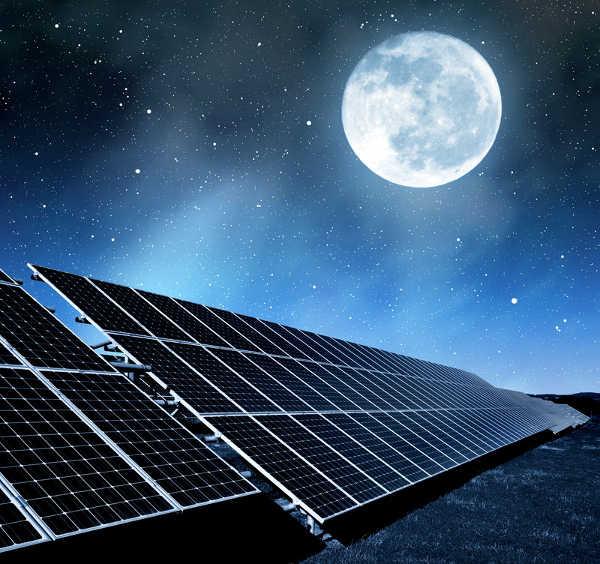 güneş enerjisi gece çalışma