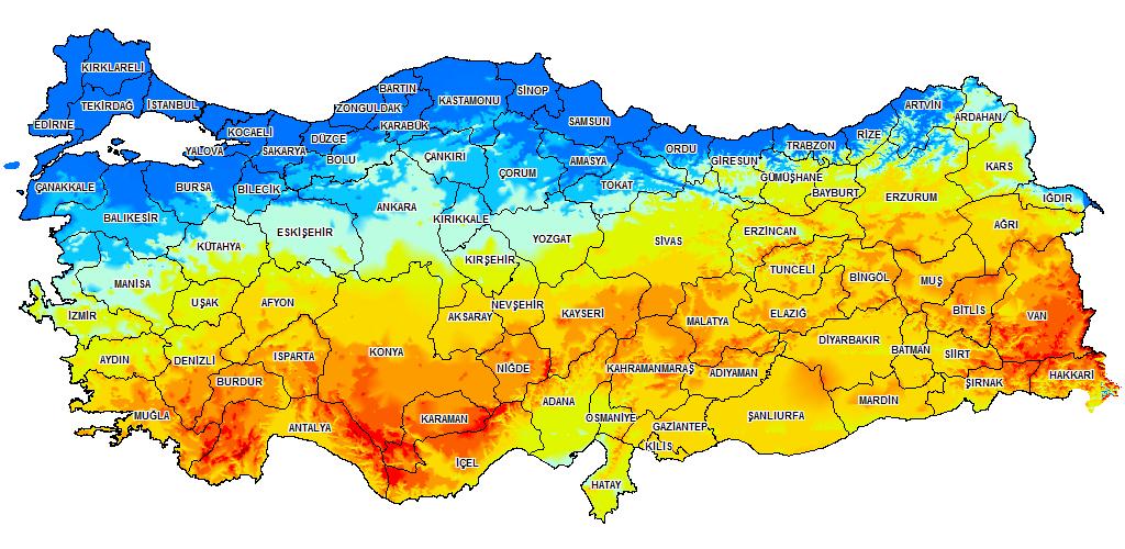 Türkiye'nin güneş enerjisi potansiyeli