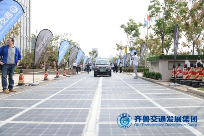 güneş panelli yol