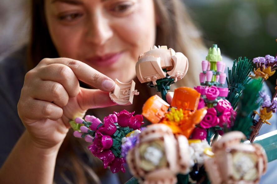 lego çiçek buketi
